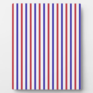Red, White, and Blue Stripes Plaque