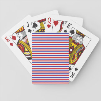 Red, White and Blue Stripes Playing Cards