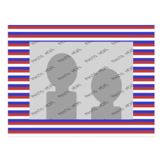 Red, White and Blue Stripes. Postcard