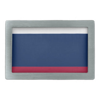 Red White and Blue Stripes Rectangular Belt Buckle