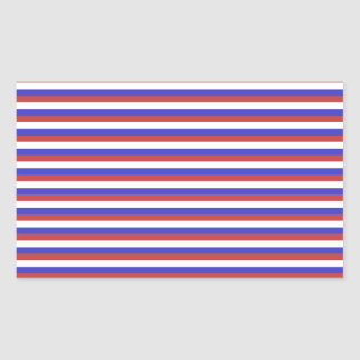 Red, White and Blue Stripes. Rectangular Sticker