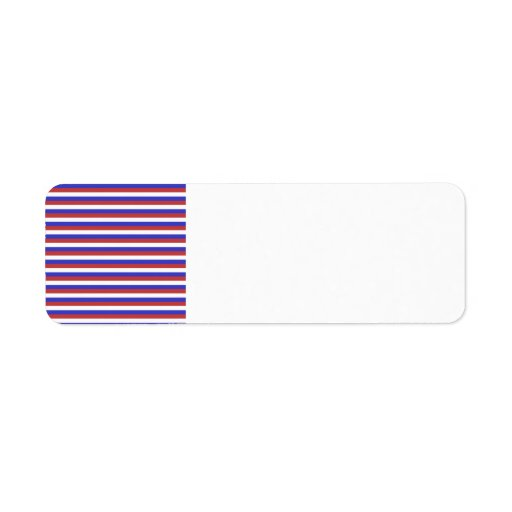 Red, White and Blue Stripes. Return Address Label