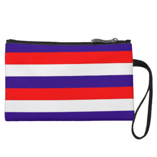 Red White and Blue Stripes Small Clutch Bag