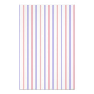 Red, White, and Blue Stripes Stationery