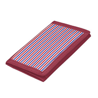Red, White and Blue Stripes Wallet