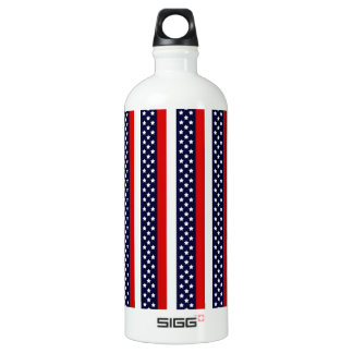 Red, White, And Blue Stripes Water Bottle