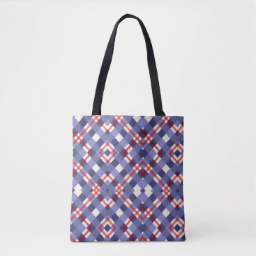 Beach Themed Red, White and Blue Summer Fun Tote Bag