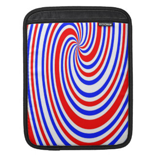 Red,white and blue swirl iPad sleeve