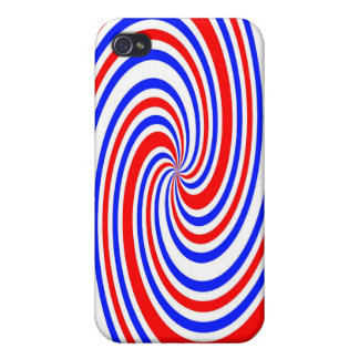 Red white and blue swirl iPhone 4/4S covers