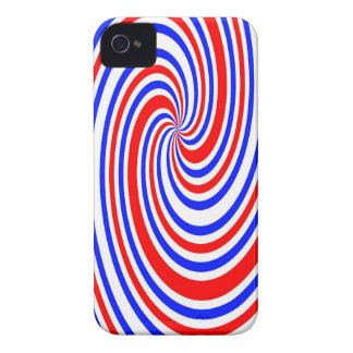 Red white and blue swirl iPhone 4 cover