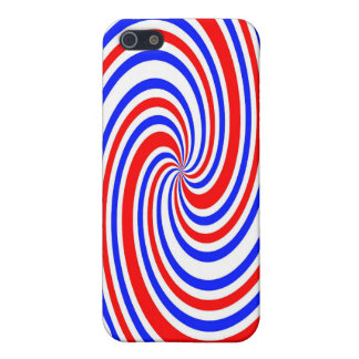 Red white and blue swirl iPhone SE/5/5s case