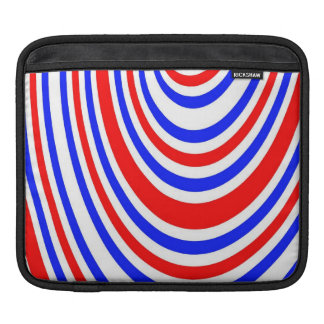 Red, white and blue swirls iPad sleeve