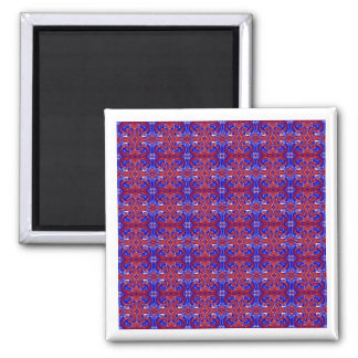 Red White and Blue Swirls Magnet