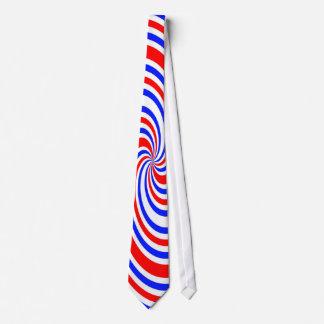 Red white and blue swirls tie
