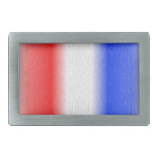 Red White and Blue Texured Design Rectangular Belt Buckle