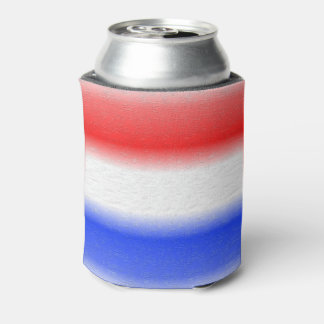 Red White and Blue Texured Design Can Cooler