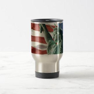 Red, White, and Blue Travel Mug