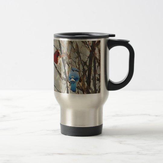 Red, White and Blue Travel Mug