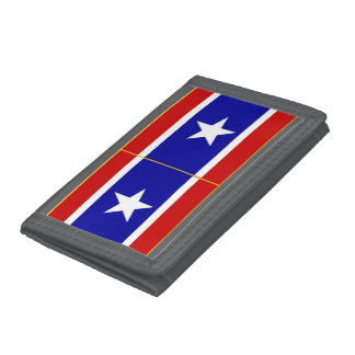RED WHITE and BLUE Tri-fold Wallets