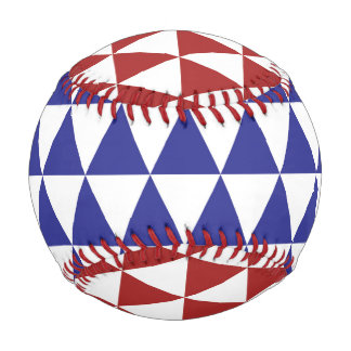 Red, White and Blue Triangles Baseball