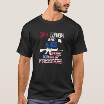 USA Themed Red White And Blue True Colors Of Freedom T-shirts