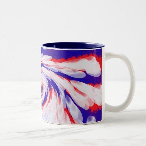 red white and blue Two-Tone coffee mug