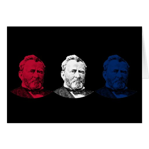 Red, White, and Blue -- U.S. Grant Greeting Card