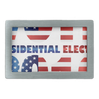 Red White and Blue USA Flag Vote 2016 Belt Buckle