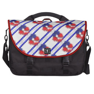 Red white and blue USA Computer Bag