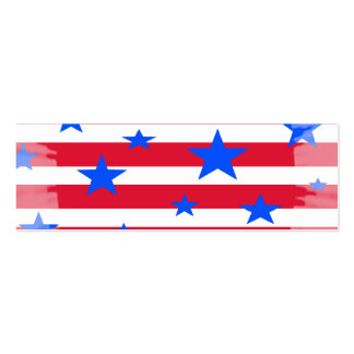 Red White and Blue USA Stars and Stripes Business Card