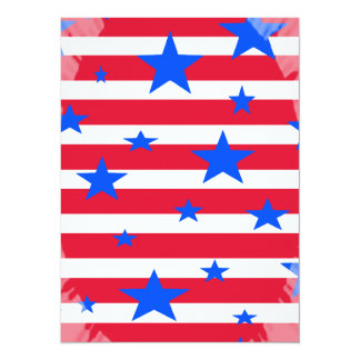 Red White and Blue USA Stars and Stripes Card