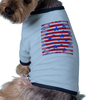Red White and Blue USA Stars and Stripes Dog Tshirt