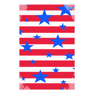 Red White and Blue USA Stars and Stripes Flyer