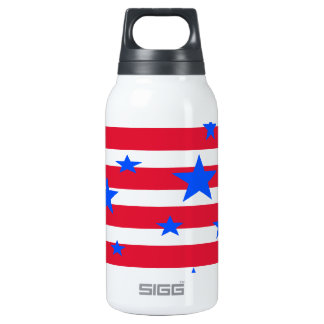 Red White and Blue USA Stars and Stripes Insulated Water Bottle