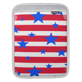 Red White and Blue USA Stars and Stripes iPad Sleeve