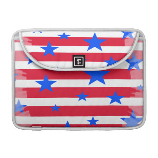 Red White and Blue USA Stars and Stripes Sleeve For MacBook Pro