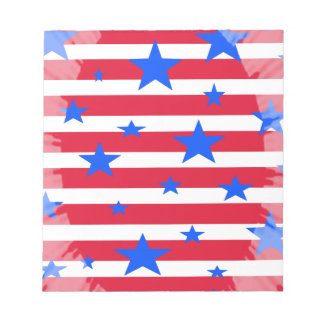 Red White and Blue USA Stars and Stripes Memo Notepads