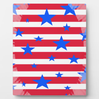 Red White and Blue USA Stars and Stripes Plaque