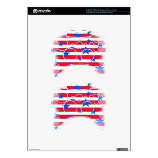 Red White and Blue USA Stars and Stripes Xbox 360 Controller Skin