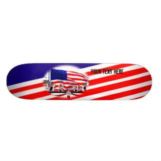 Red White and Blue Veteran Skateboard