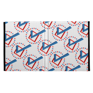 Red White and Blue Vote Elections Check Mark iPad Folio Cover