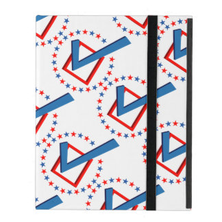 Red White and Blue Vote Elections Check Mark iPad Folio Cases