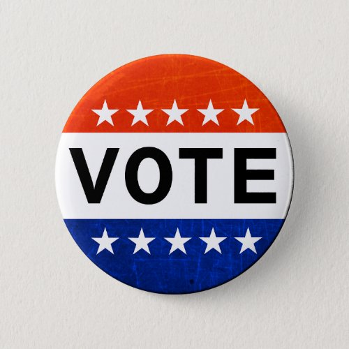 Red White and Blue Vote Patriotic Button