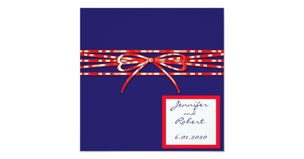 Red White And Blue Wedding Invitations: Red White And Blue Wedding Invitation