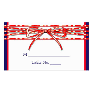 Red White and Blue Wedding Place Cards Business Card