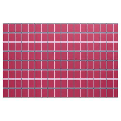 Red White and Blue Windowpane Check Fabric