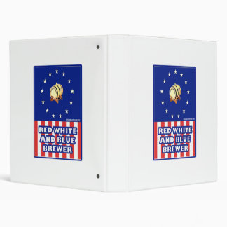 Red White And Blue Wine Brewer 3 Ring Binder