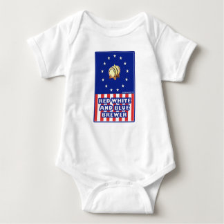 Red White And Blue Wine Brewer Baby Bodysuit