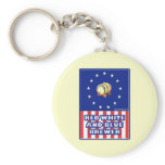 Red White And Blue Wine Brewer Basic Round Button Keychain