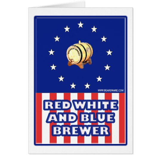 Red White And Blue Wine Brewer Card
